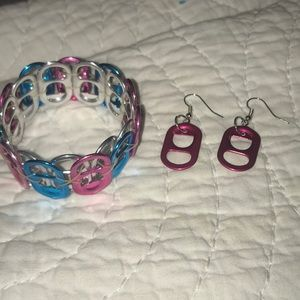 Recycled Eco Bracelet and Earrings